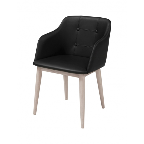CORPUS Arm Chair w:black PU