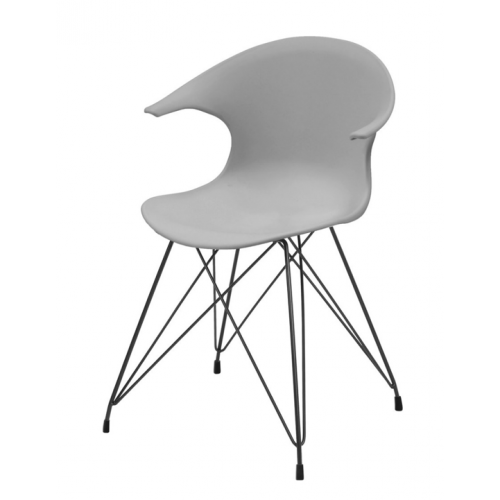 JAMES Chair w:grey PP shell