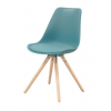 WOODY Dining chair w:turquoise (2 pcs:box)
