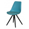 WOODY Dining chair w:turquoise black (4 pcs:box)