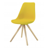 WOODY Dining chair w:yellow (2 pcs:box)