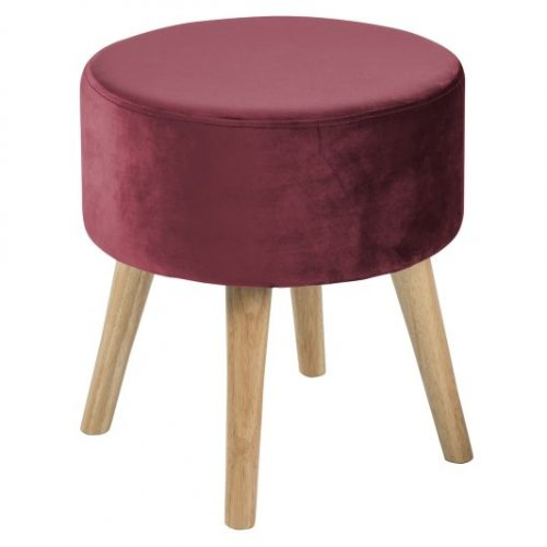 SHERMAN_OTTOMAN_VIC_BORDEAUX_55_RUBBERWOOD_LEGS_OAK_STAIN_40XH43_ROUND