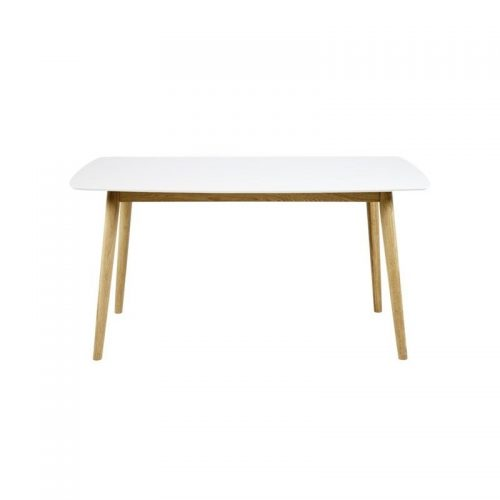 NAGANO_DINING_TABLE_WHITE_TOP_OAK_BASE_150X80X75