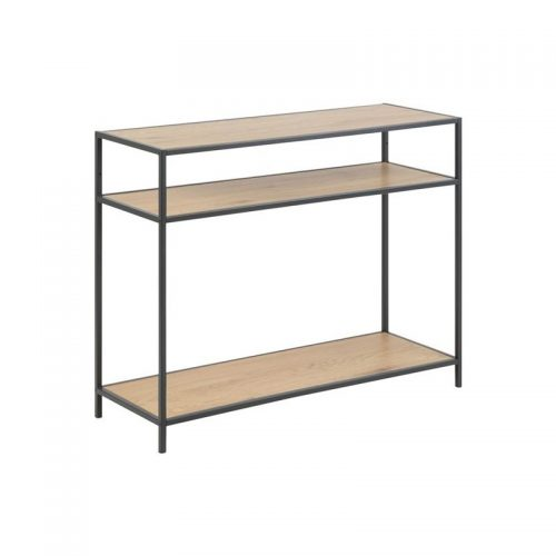 SEAFORD_CONSOLE_PAPER_WILD_OAK3_1S_METAL_PC_ROUGHT_MATT_BLACK5_100X35XH79