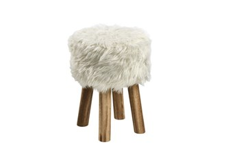 MAREN_STOOL_ARTIFICIAL_FUR_LEGS_PINE_WOOD_28XH41_ROUND