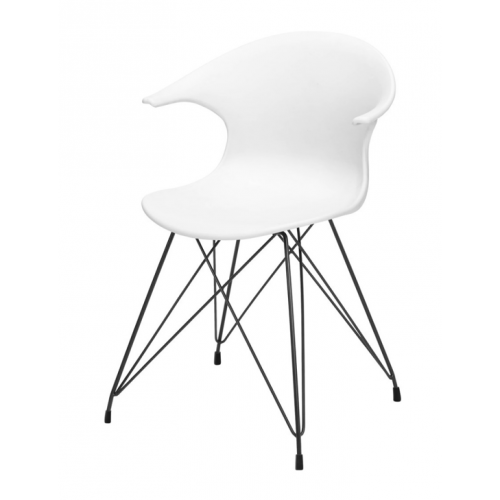 JAMES Chair w:white PP shell