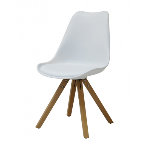 TOM Dining chair w:white
