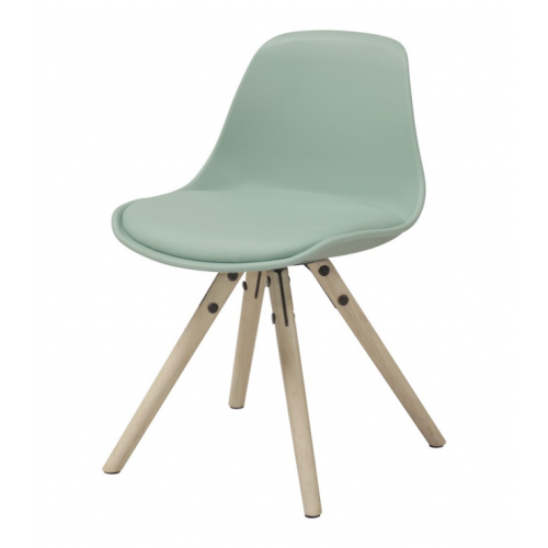 WOODY Junior chair w:matt aqua