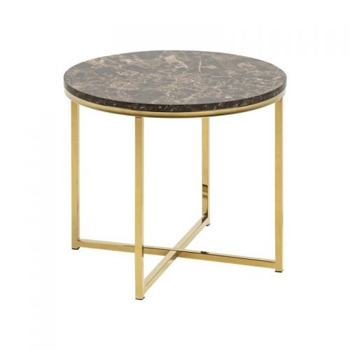 ALISMA_LT_MDF_TABLE_TOP_PAPER_MARBLE_BROWN_BASE_METAL_GOLDEN_CHROME_50XH42_7_ROUND_ORIG