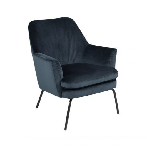CHISA_RESTING_CHAIR_VIC_NAVYBLUE_66_BASE_METAL_POWDER_COATED_BLACK
