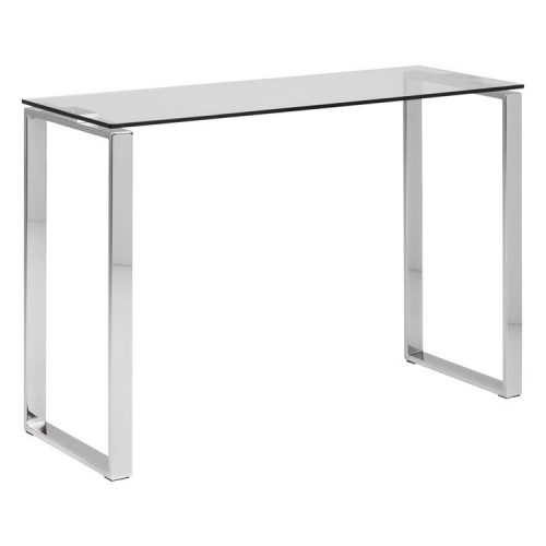 KATRINE_CONSOLE_GLASS_TABLE_TOP_CLEAR_10MM_BASE_CHROME_110X40X76_ORIG