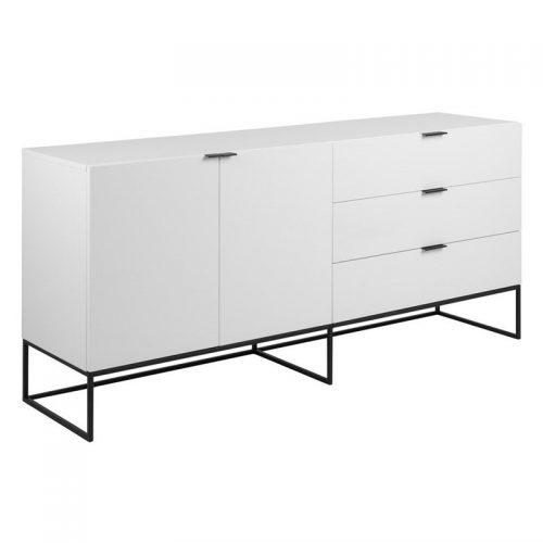 KOBE_SB_2DOORS_3DRAWERS_MAP002_WHITE_CABINET_MPG001_BLACK_LEGS_180X45XH80