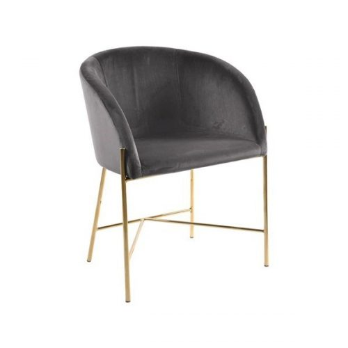NELSON_ARMCHAIR_W_VIC_DARK_GREY_28_STEEL_FRAME_GOLDEN_CHROME