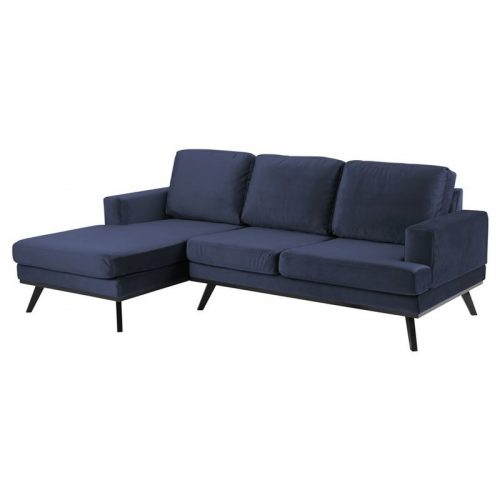 NORWICH_2_SEATER_CHAISELONGUE_LEFT_LETTO_DARK_BLUE_1022_LEGS_ASH_MATT_BLACK_LACQUERED