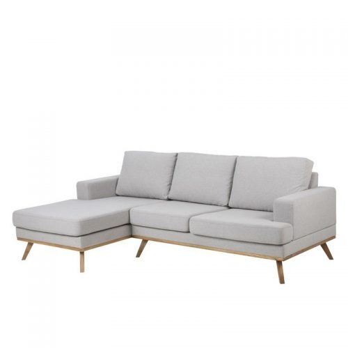 NORWICH_2_SEATER_W_CHAISE_LEFT_STUART_LIGHT_GREY_FABRIC_WOODEN_BASE