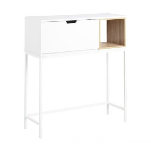 SATLEY_SECRETARY_TABLE_DESK_FUNC_OAK_MELAMINE_CUBE_PAINT_LEGS_PC_WHITE_91_5X30XH100