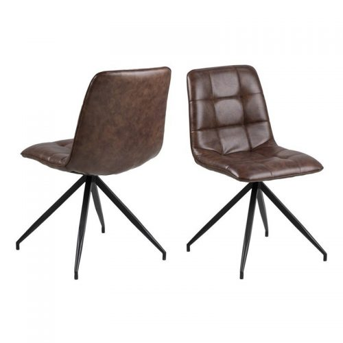 CAPONE_CHAIR_W_BROWN_PU_SEAT_STEEL_MPG001_BLACK_LEGS