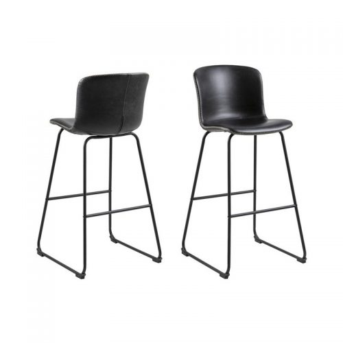 STORY_40_BAR_STOOL_VINTAGE_BLACK_PU_247_STEEL_LEGS_MPG001_BLACK_ZIG_SAG_SEWING