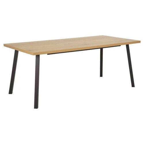 MALLOW_DT_MELAMINE_MATT_WILD_OAK_BASE_METAL_LEGS_PC_ROUGH_MATT_BLACK_190X90XH75_ORIG