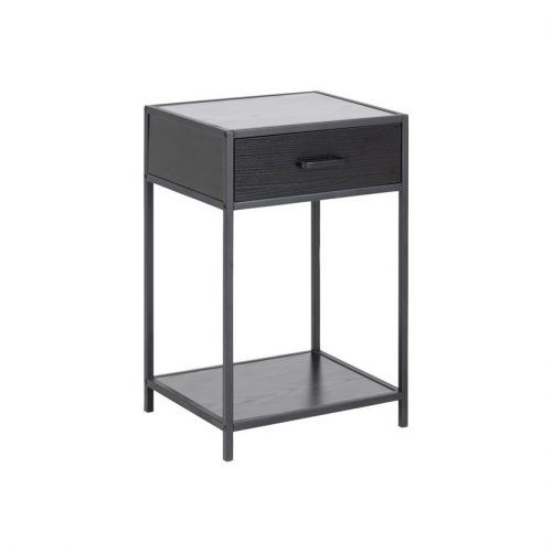 SEAFORD_BED_SIDE_TABLE_1DR_1SH_MELAMINE_ASH_BLACK_METAL_PC_ROUGH_MATT_BLACK_42X35XH63_ORIG