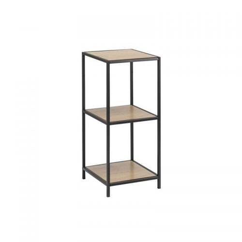 SEAFORD_BOOKCASE_2_PAPER_WILD_OAK_SHELVES_METAL_BLACK_35X37XH86_3