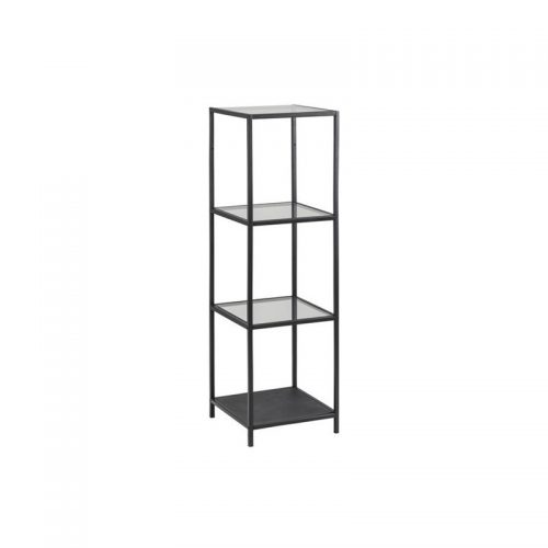 SEAFORD_BOOKCASE_3_GLASS_SHELVES_8_MM_METAL_BLACK_35X37X124_9