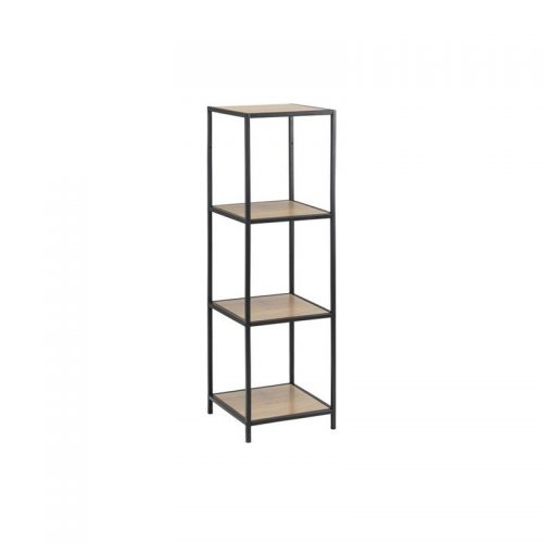SEAFORD_BOOKCASE_3_PAPER_WILD_OAK_SHELVES_METAL_BLACK_35X37X124_9