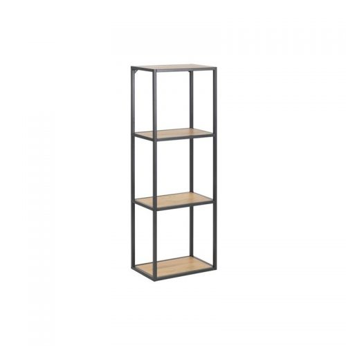 SEAFORD_WALL_BOOKCASE_2SH_PAPER_WILD_OAK3_ROUGH_PC_MATT_BLACK5_24X37XH108