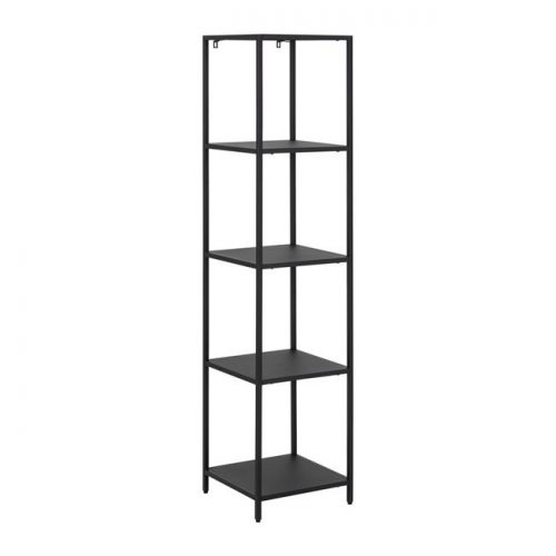 NEWCASTLE_BOOKCASE_METAL_PC_ROUGH_MATT_BLACK_4SH_35X35XH146_ORIG