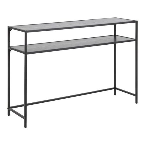 SEAFORD_CONSOLE_MELAMINE_ASH_BLACK_1SHELF_OPEN_END_METAL_PC_ROUGH_MATT_BLACK_120X35XH79_ORIG