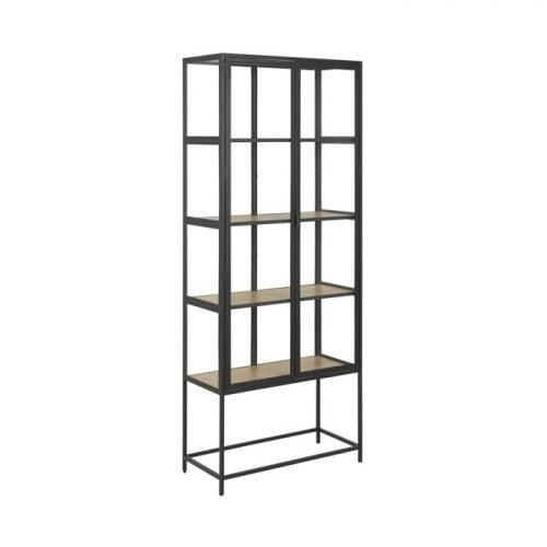 SEAFORD_GLASS_CABINET_2D_PAPER_WILD_OAK_METAL_PC_ROUGH_MATT_BLACK_77X35XH186_60_ORIG