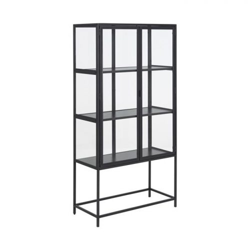 SEAFORD_GLASS_CABINET_FRAME_METAL_PC_ROUGH_BLACK_2D_SHELF_ASH_MELAMINE_BLACK_77X35XH150_ORIG