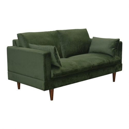 SUNDERLAND_A1_2_SEATER_SOFA_VIC_FOREST_GREEN_68AC_LEGS_RW_DARK_BROWN_STAINED_LACQ_SUPP