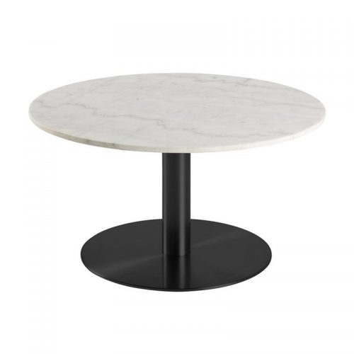 CORBY_CT_MARBLE_TABLE_TOP_QUANGXI_WHITE_BASE_POWDER_COATED_ROUGH_BLACK_80XH45_ROUND_MANI