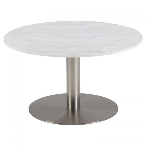 CORBY_CT_MARBLE_TOP_QUANGXI_WHITE_BASE_BRUSHED_CHROME_80XH45_ROUND_ORIG