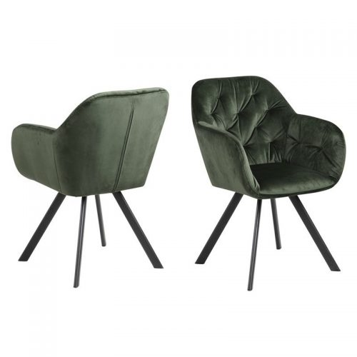 LOLA_ARMCHAIR_VIC_FOREST_GREEN_68AC_METAL_PC_ROUGH_MATT_BLACK